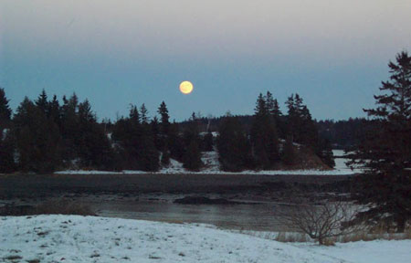 Full Moon at Tide Mill Farm
